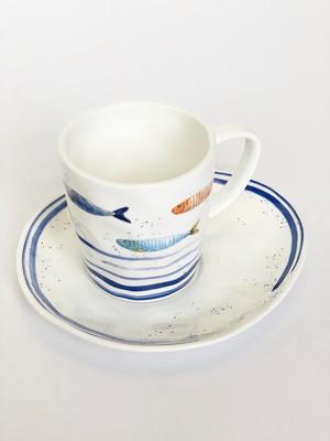EASY LIFE Чашка с блюдцем Морской берег